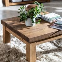 Wansbeck Coffee Table | Rustic Square Coffee Table